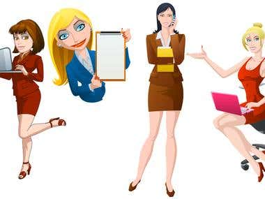 Vector Bussines Woman  1