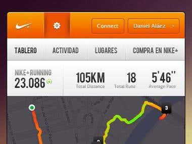 Nike interface...