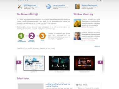 Joomla project from psd