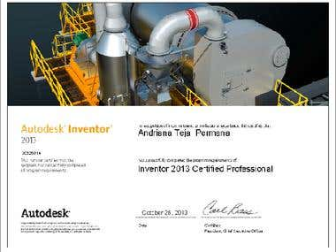 Inventor 2013 certified professional