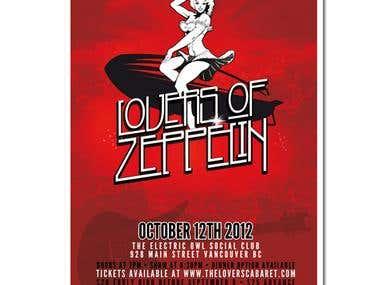 Flyer design Lovers of Zeppelin