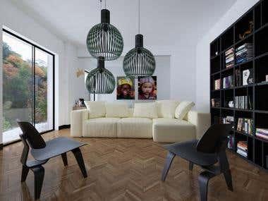 interior model . 3d model and render in Lightwave3D