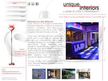 Interior decorators website
