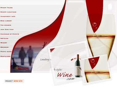 Wine Theme template