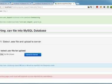 Importing .csv files into MySQL database