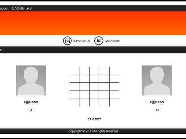 WEBGAME: TIC TAC TOE
