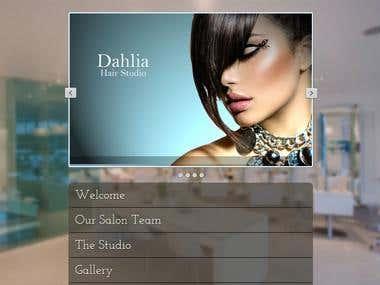 Hairdressing Template Full Responsive Website