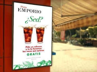 Diseño promocional: Pizza Emporio