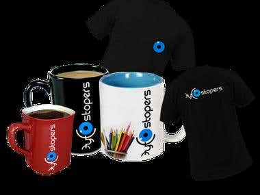 T-shirt, Mugs, banners, books design