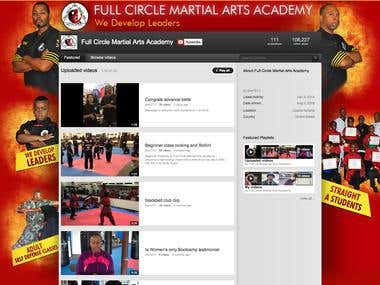 YouTube Background Design for FC Martial Arts Academy