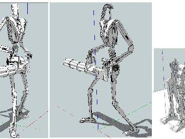 A robot I modelled in SketchUp for fun