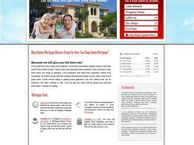 Website design for mortgage company