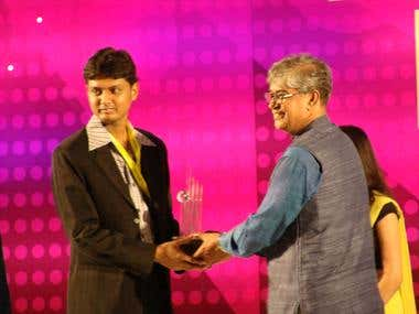 Receiving BASIS Freelancer of the Year 2011 award