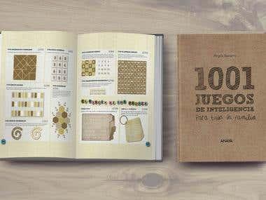 Diseño libro: 1001 Juegos de inteligencia...