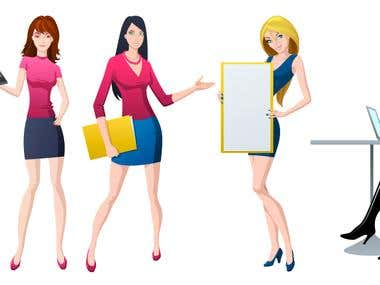 Vector Bussines Woman 2
