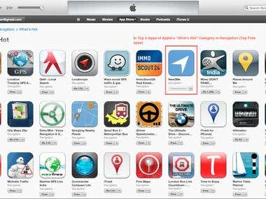 Near2Me App Store Position
