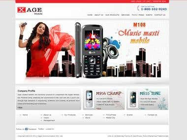 XAGE Communications e-Commerce website