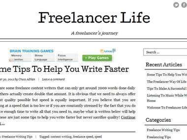 Freelaner Life Blog