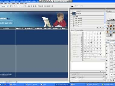 Designing Website Template - Photoshop CS3; Dreamweaver CS3