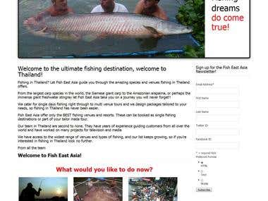 Fish East Asia - Fishing in Thailand - WordPress website