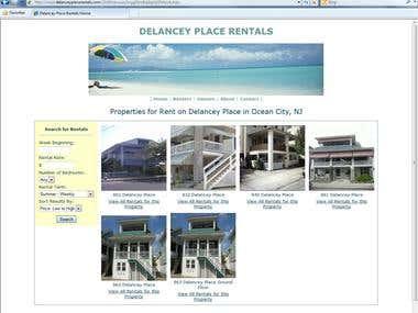 Vacation Rental Web Site
