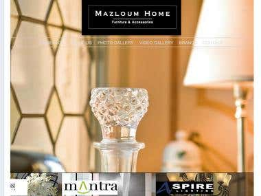 Mazloum Home Fasebook Flash Website