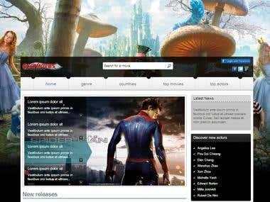 experienced in website design and geaphics design