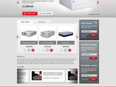 Web design for an eCommerce website