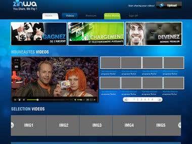zinwa : video portal webdesign