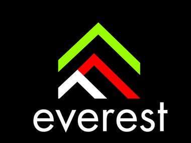 Everest logo design for black t-shirt