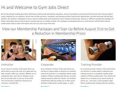 website gymjobsdirect