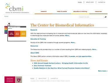 Drupal website for Harvard research center