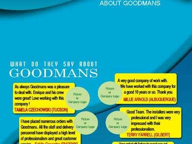 Goodmans Brochure Design.