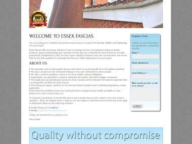 Essex Fascias - WordPress website