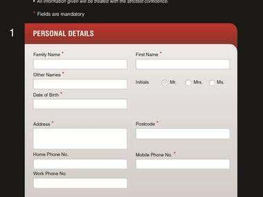 Editable/Interactive Pdf Form