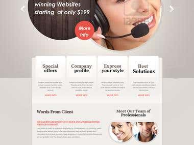 web Layout design in psd
