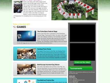 Wordpress Poker website with poker slot in flash integration