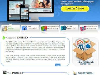 www.xwebseo.com - Website Design / Slicing / Content