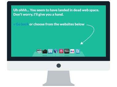 Flat UI 404 Page Design