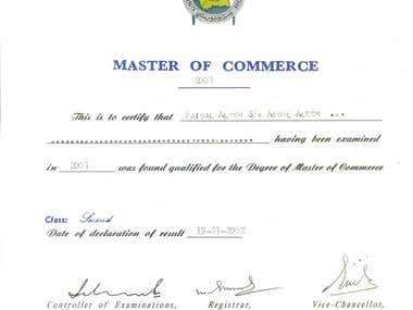 Master In Commerce