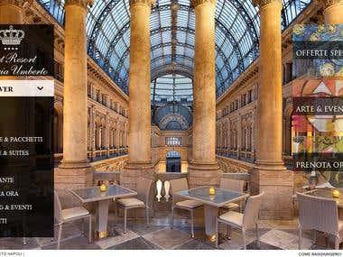 The Hotel Art Resort Galleria Umberto of Naples (Italy)