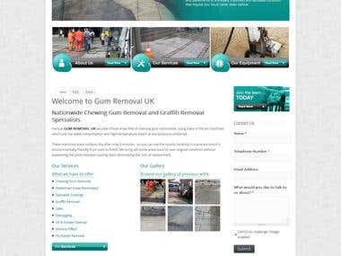 Gum Removal UK - Drupal website
