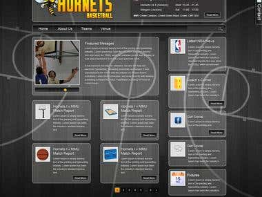 Basketball Wordpress Site