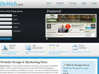 Wordpress website coding from psd