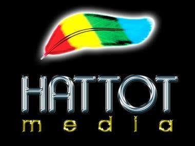 Logo design for black t-shirt, full color