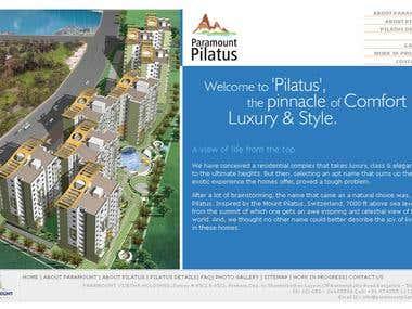 Paramount Pilatus Website design