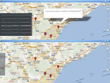 Geocoding and mapping utility for kantorvw