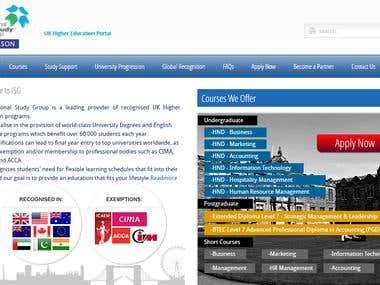 ISG's Joomla Website
