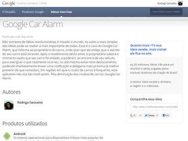Google Car Alarm