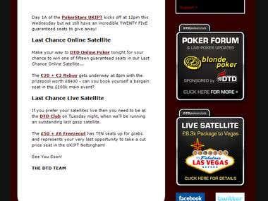 HTML Email DTD Poker